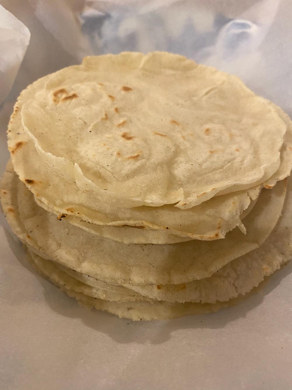 Homemade corn tortillas!