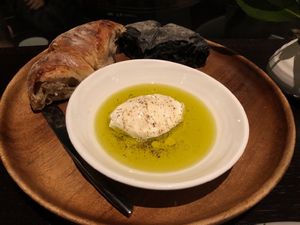 Spiaggia's heavenly bread and olive oil with ricotta medley