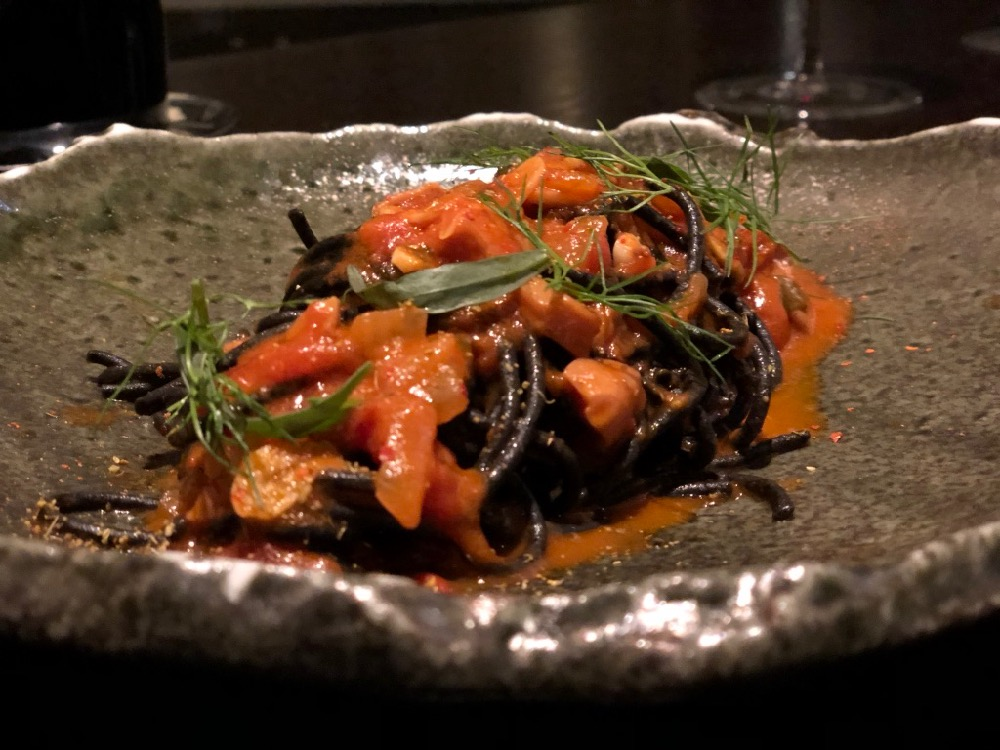 Squid Ink Pasta in a Calabrian Chili Sauce