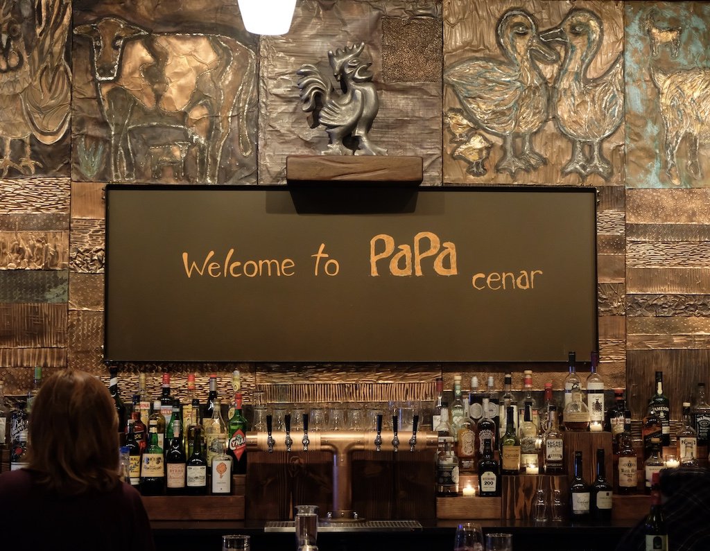 Papa Cenar interior sign