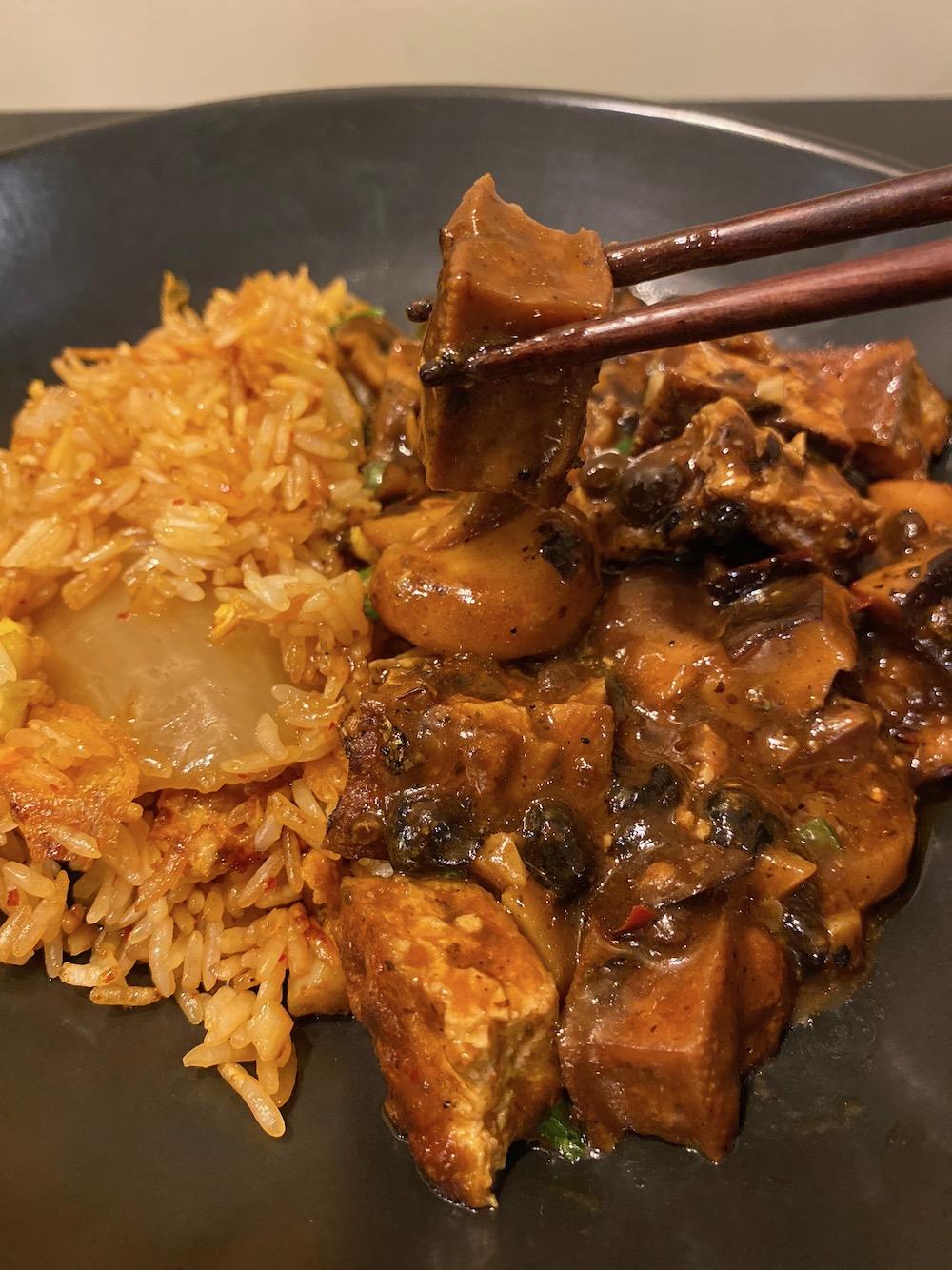 Look at that tofu!