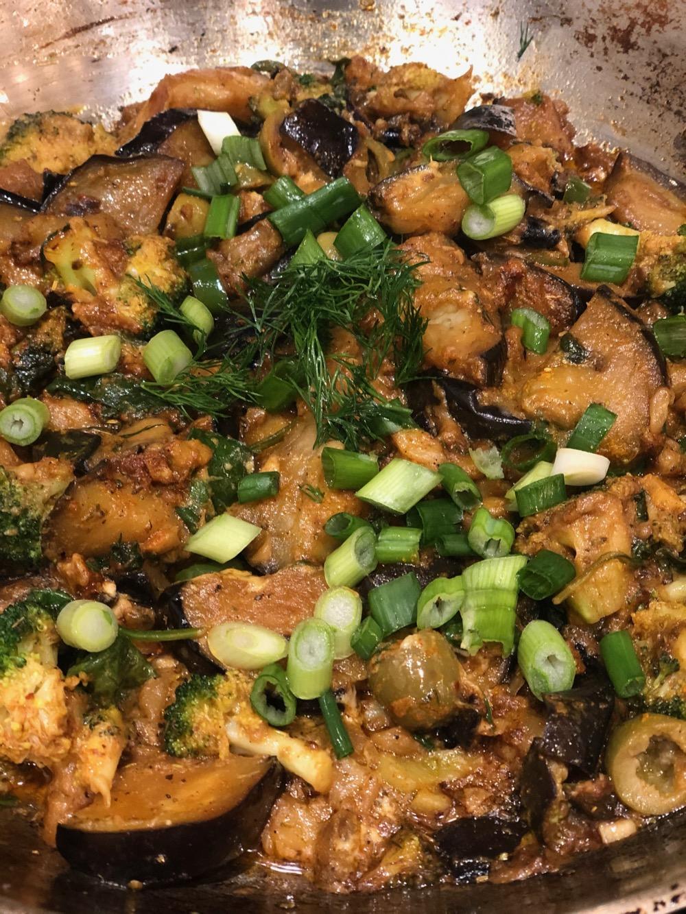 Eggplant Broccoli Dijonnaise is ready!