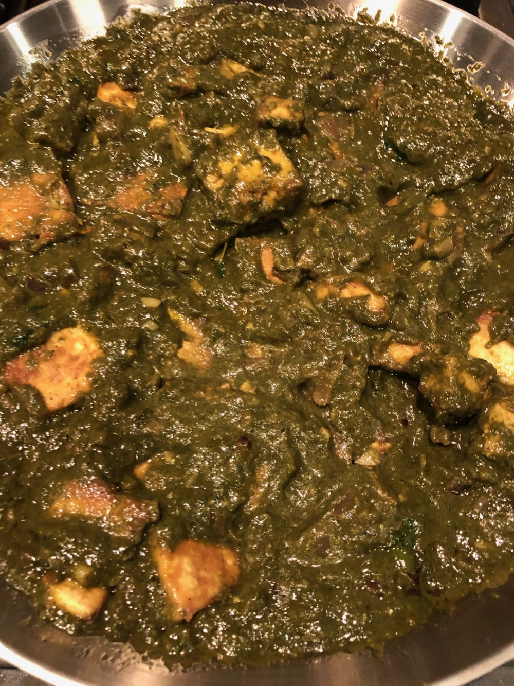 Palak tofu is ready!