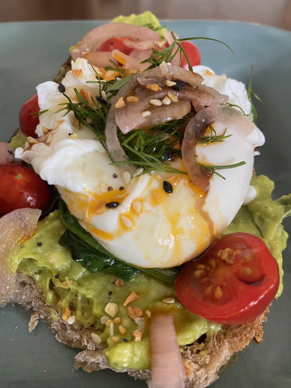 Fancy avocado toast with an egg!
