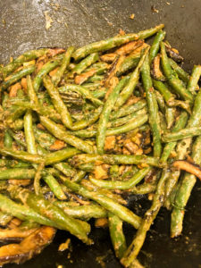 Dill Dijon Green Beans are almost ready!