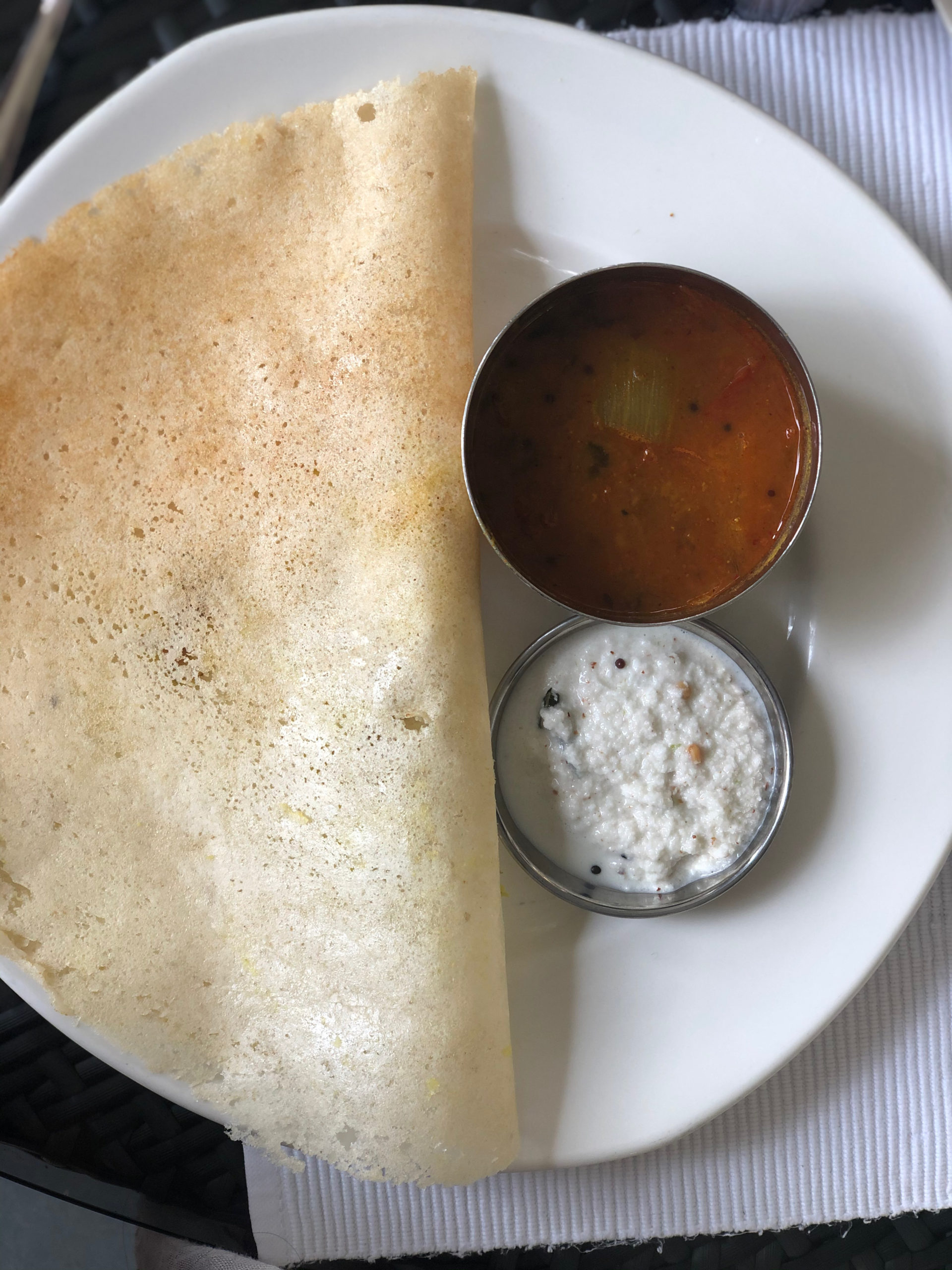 India Travel Blog Post: Goa - breakfast dosa
